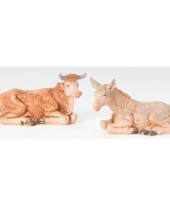 "Ox & Donkey Animal Figure for Fontanini® 3.5"" Nativity Collection"
