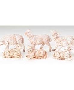 "Sheep 6 Piece Animal Set for Fontanini® 3.5"" Nativity Collection"