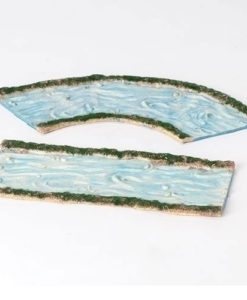 "2 Piece Set Straight and Curved Stream Set for Fontanini® 5"" Nativity Collection"
