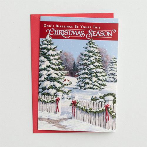 God's Blessings | 18 Christmas Boxed Cards, KJV