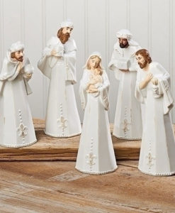 Nativity Porcelain Stoneware Set | 5 Piece Set