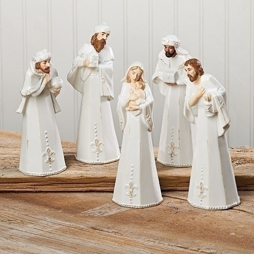 Nativity Porcelain Stoneware Set   5 Piece Set