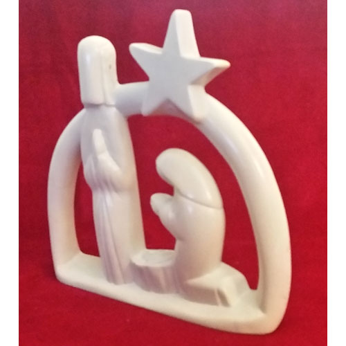 Nativity Star Soapstone Sculpture