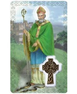 St. Patrick Prayer Card with Medal