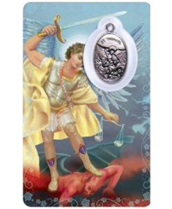 St. Michael Prayer Card with Medal