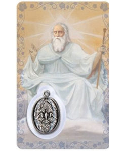 Our Father Prayer Card with Medal