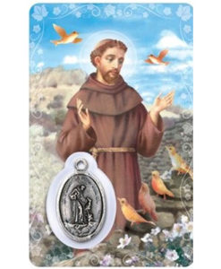 St. Francis Prayer Card with Medal