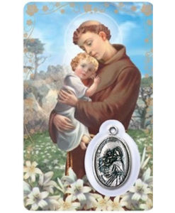 St. Anthony Prayer Card with Medal