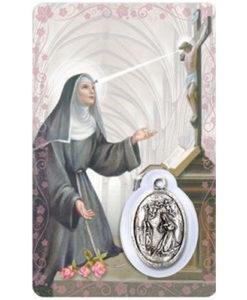 St. Rita Prayer Card with Medal