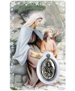St. Anne Prayer Card with Medal