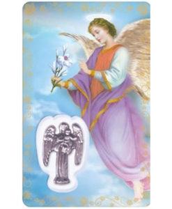St. Gabriel Prayer Card with Medal