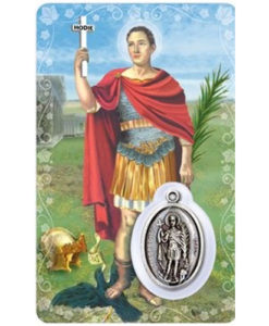 St. Expeditus Prayer Card with Medal