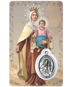Our Lady of Mount Carmel with Medal