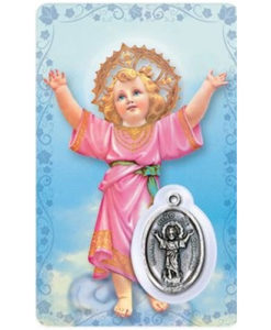 Holy Child Prayer Card with Medal