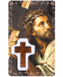 Face of CHRIST Prayer Card with Medal