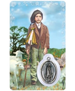St. Francisco Prayer Card with Medal