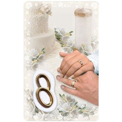 Wedding Prayer Card with Medal