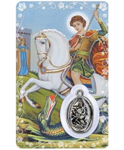 St. George Prayer Card with Medal