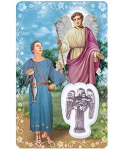 St. Raphael Prayer Card with Medal
