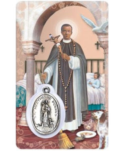 St. Martin of Porres Prayer Card with Medal