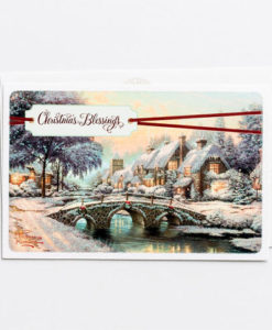 Thomas Kinkade - Christmas Blessings | 18 Premium Christmas Boxed Cards