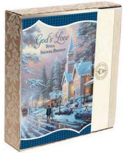 Thomas Kinkade - God's Love | 18 Premium Christmas Boxed Cards, KJV