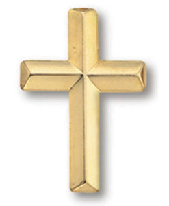 Cross Lapel Pin | Gold Plated