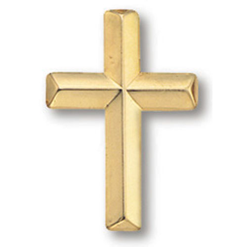 Cross Lapel Pin | Gold Plated