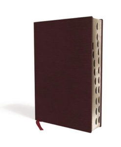 NIV Thinline Bible Comfort Print | Giant Print | Indexed | Red Letter | Bonded Leather - Burgundy