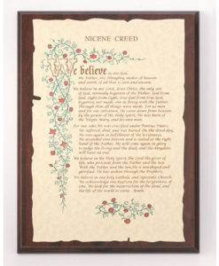 Plaque Nicene Creed on Parchment Paper