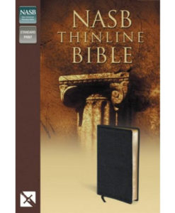 NASB - Thinline Bible | Bonded Leather, Black