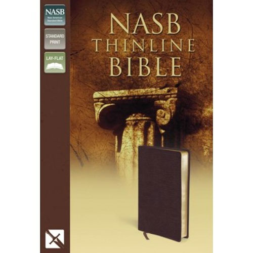 NASB - Thinline Bible | Bonded Leather, Burgundy