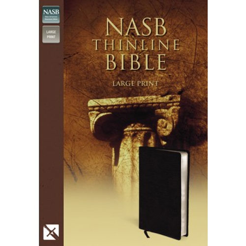 NASB - Thinline Bible | Large Print | Bonded Leather, Black
