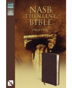 NASB - Thinline Bible | Large Print | Bonded Leather, Burgundy - Red Letter Edition