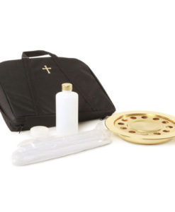 Portable Communion 14 Cup | Brasstone | Black