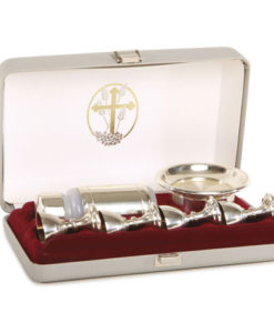 Portable Communion Deluxe 4 Cup | Silvertone