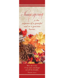 Bookmark Thanksgiving 2018