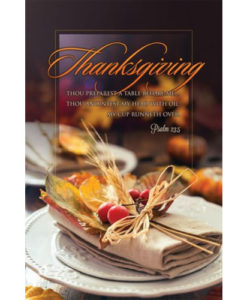 Thanksgiving 2018 | Letter Size Bulletin Package of 100
