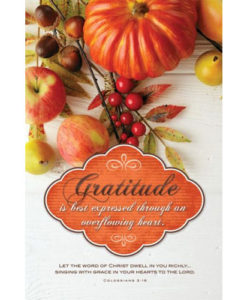 Gratitude Thanksgiving 2018 Bulletin