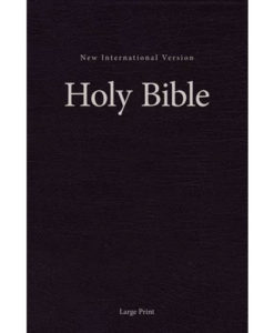 NIV Pew and Worship Bible Comfort Print | Large Print | Hardcover