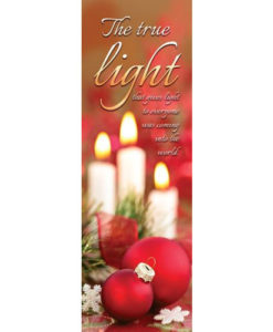 Bookmark The true light Christmas 2018