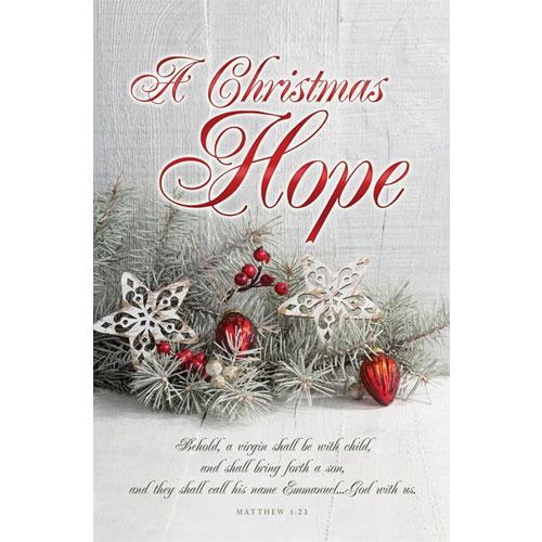 A Christmas Hope Christmas 2018 Bulletin
