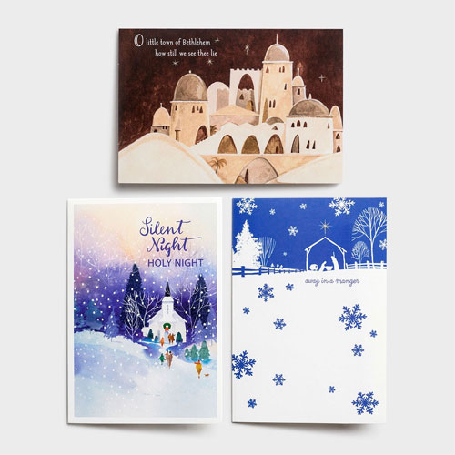Religious Scenes   48 Christmas Boxed Cards Assortment