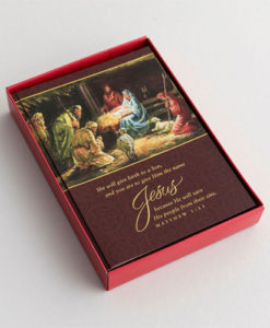 Jesus—He Will Save His People from Their Sins | 18 Christmas Boxed Cards