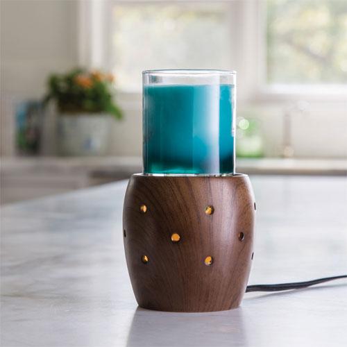 Walnut 2-in1 Flickering Fragrance Warmer
