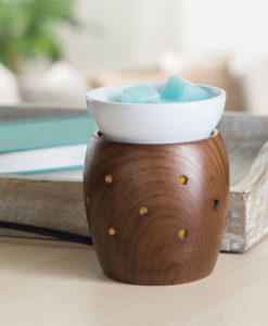 Walnut 2-in1 Flickering Fragrance Warmer