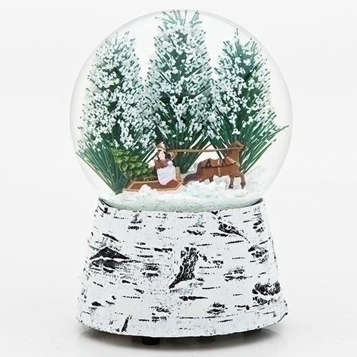 Sleigh Ride Scene Glitter Dome