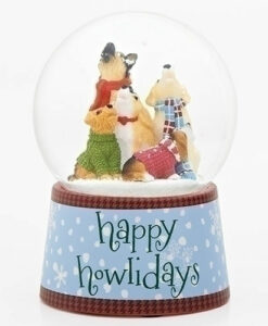 Musical Howlers Happy Howlidays Glitter Dome