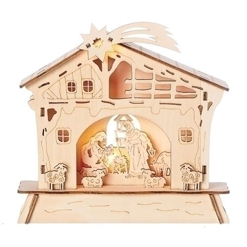 Lighted Nativity Scene