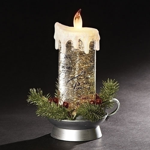 Lighted Swirl Candle   Confetti Lites